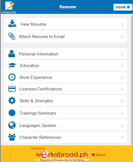 MyResume Resume Creator - Android Apps on Google Play