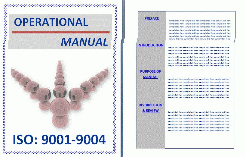 Operational Manual Template | Free Manual Templates