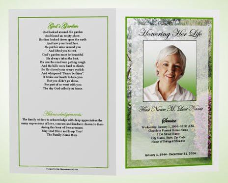 What is a Funeral Program | Memorial Programs | Funeral Templates