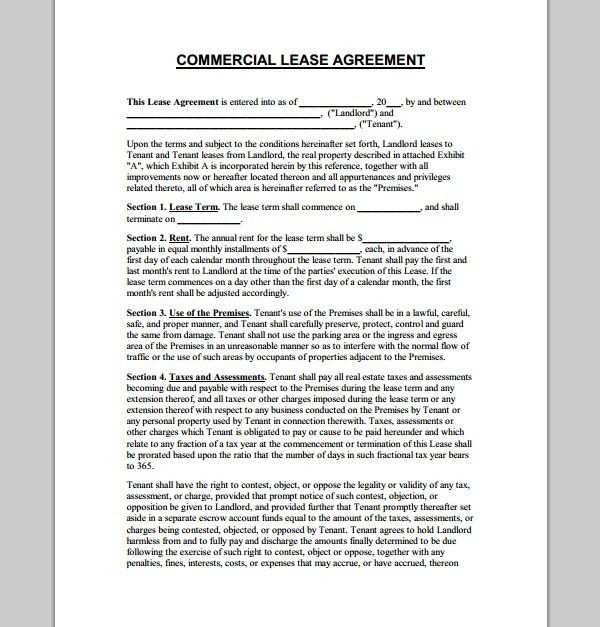 Brilliant Business Property For Lease Property Lease Templates ...