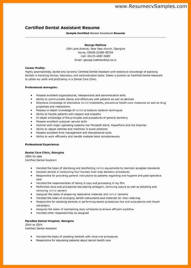 3+ resume objective for dental assistant | job resumed