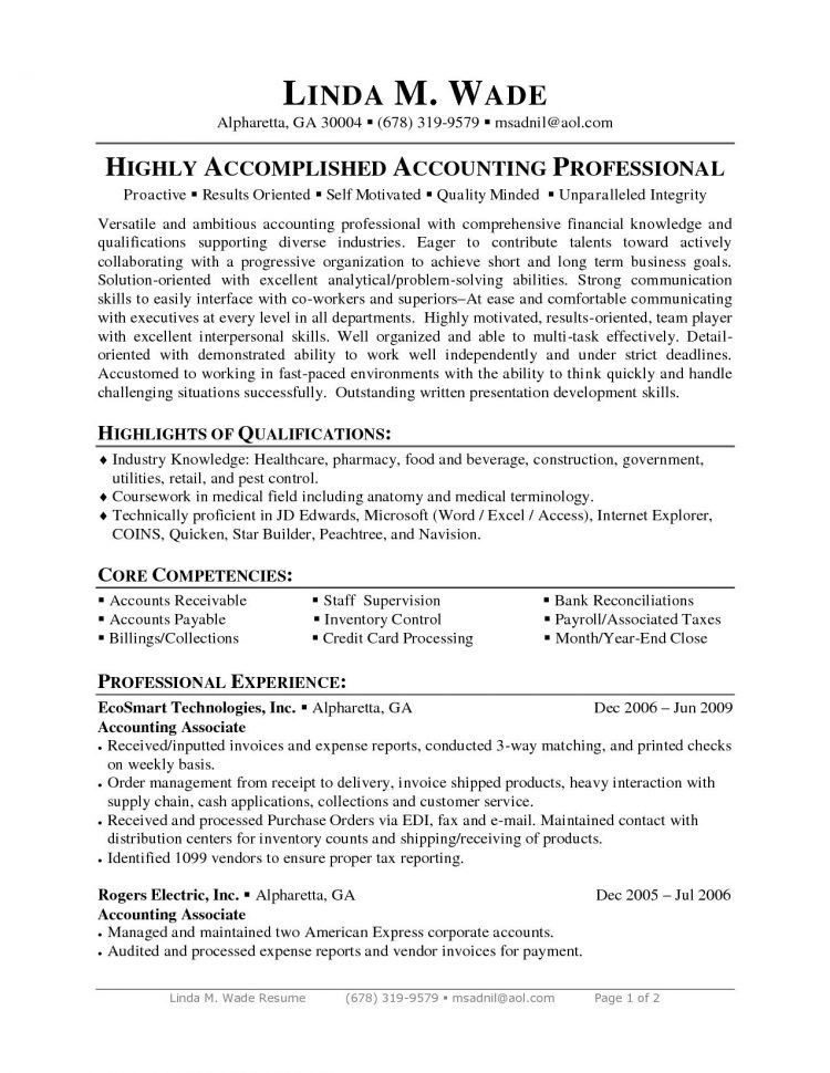 account payable clerk resumes
