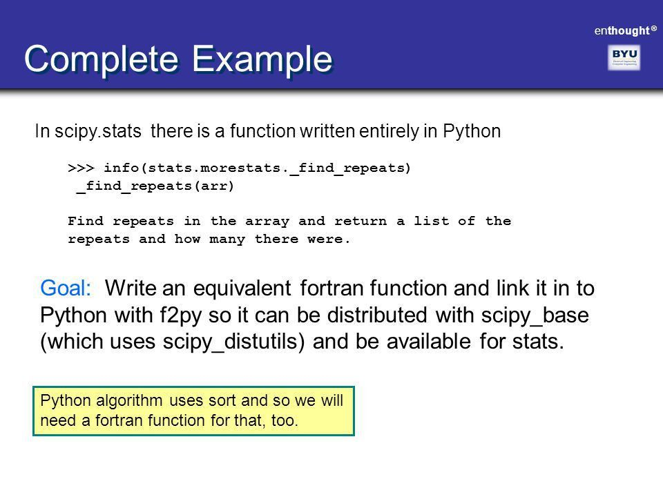Scientific Computing with Python [Advanced Topics] - ppt download