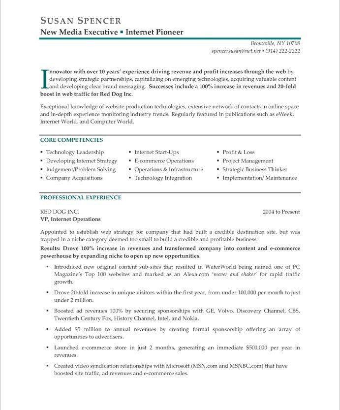 Executive Resume Makeover: Digital Media Executive | Blue Sky ...