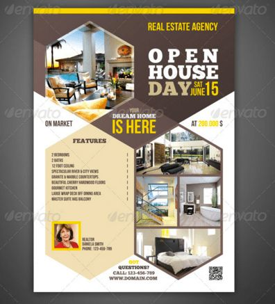 20 Open House Flyers Templates – Design Blog