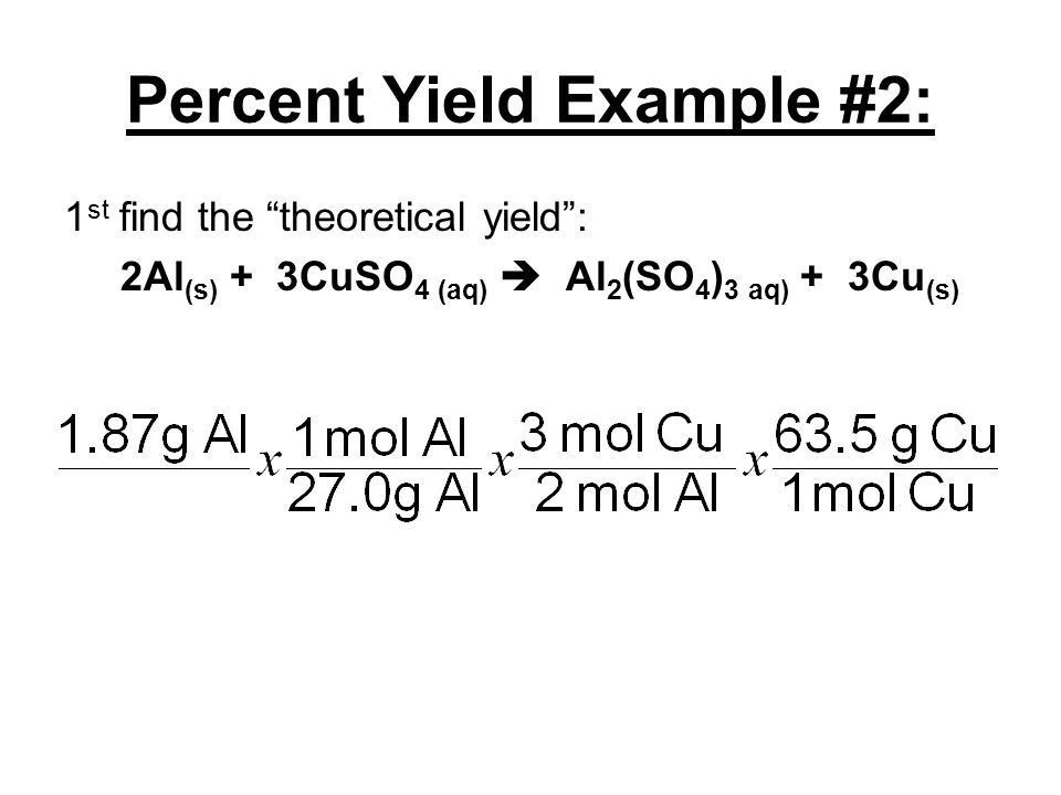 NOTES: 12.3 – Limiting Reagent & Percent Yield - ppt video online ...
