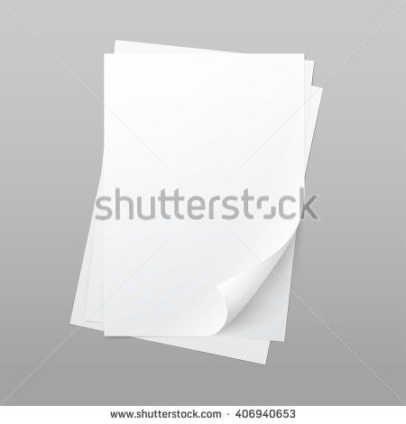 Vector Blank Paper Template Sheet Background Stock Vector ...