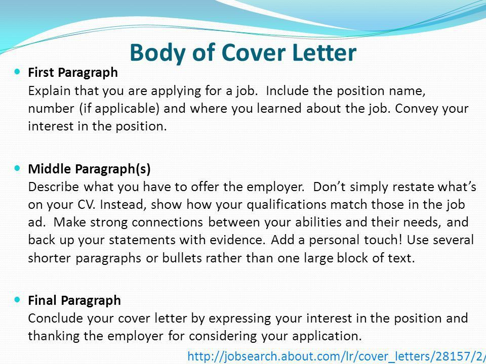OCN 750 Class #11: March 20 Cover Letters - ppt download