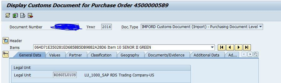 Unable to see the Purchase order number in GTS