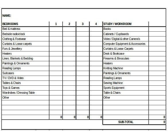 Inventory Form Template – 13+ Free Excel, Word, PDF Documents ...