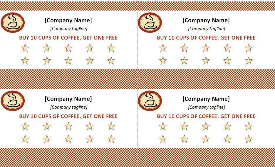 Business Punch Card Template Free - Danielpinchbeck.net