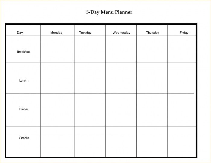 day schedule template