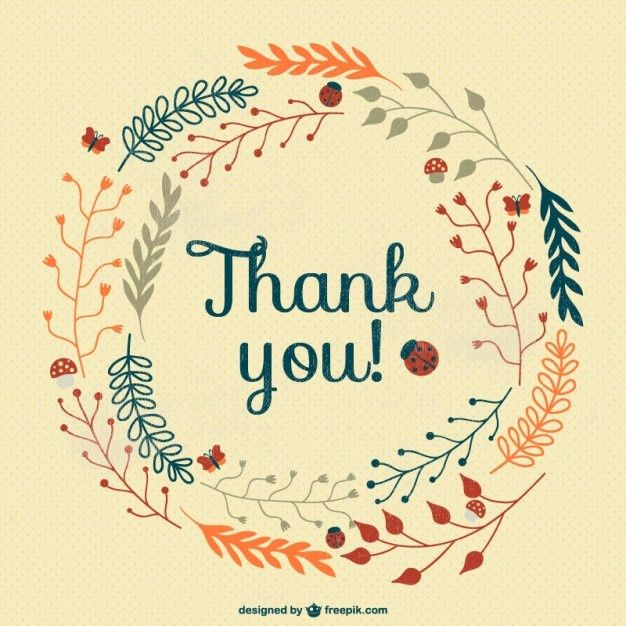 Vintage thank you card Vector | Free Download