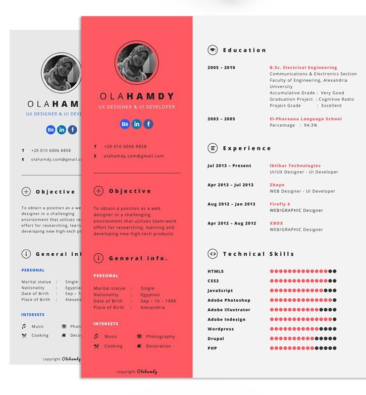 9+ Free Minimal Resume Templates | Hipsthetic
