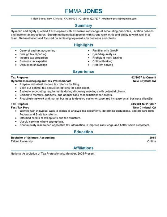 Financial Resume | Free Resumes Tips