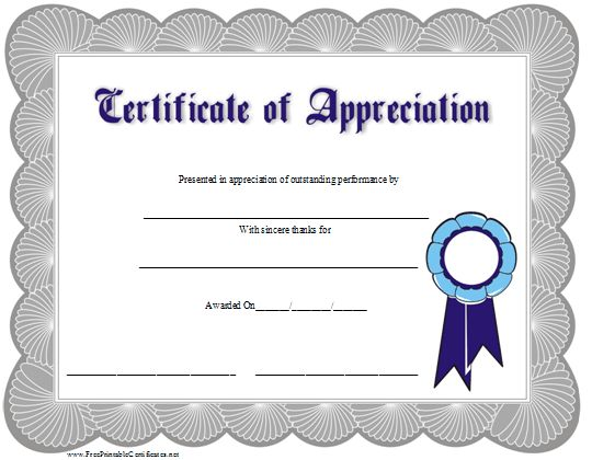 100+ Appreciation Certificate Template Free | Participation ...
