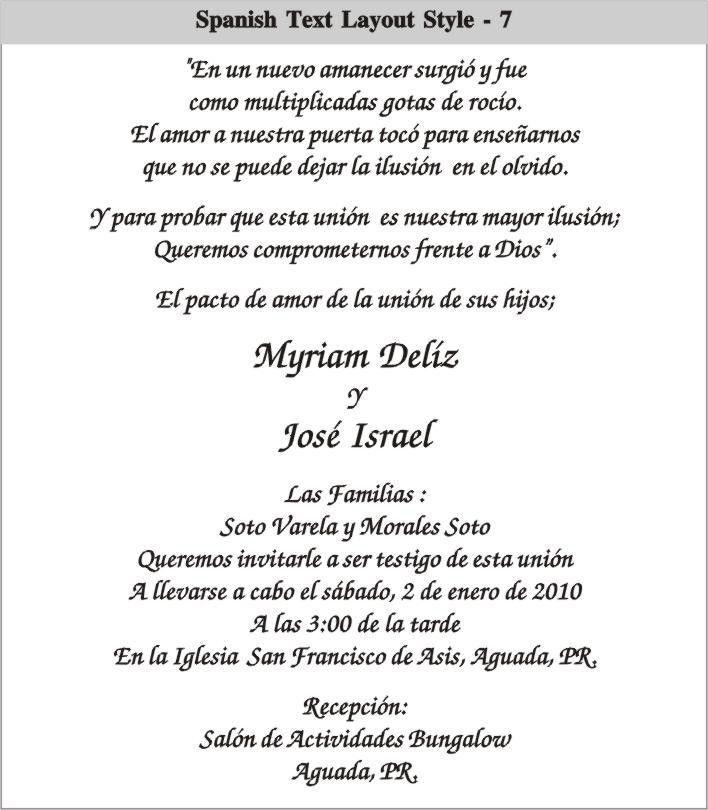 Spanish Wedding Invitation Wording | THERUNTIME.COM