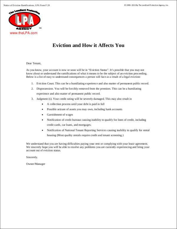10 Eviction Notice Templates - Templates, Samples