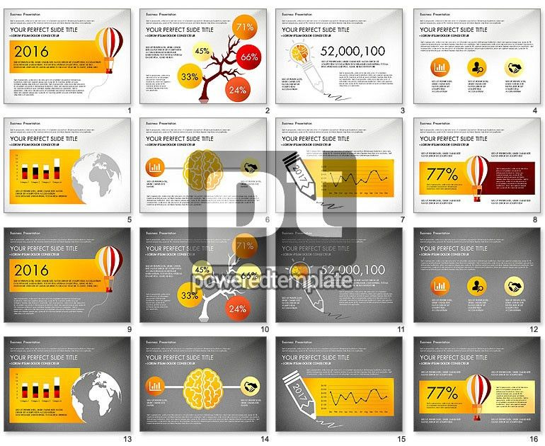 Yellow Themed Pitch Deck Presentation Template for PowerPoint ...