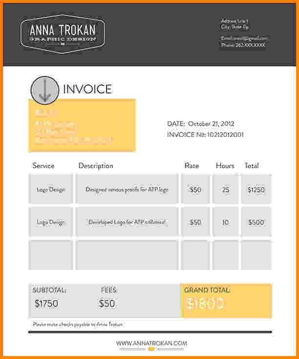4+ graphic design invoice | Short paid invoice