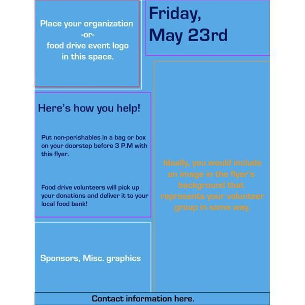 food donation flyer templates