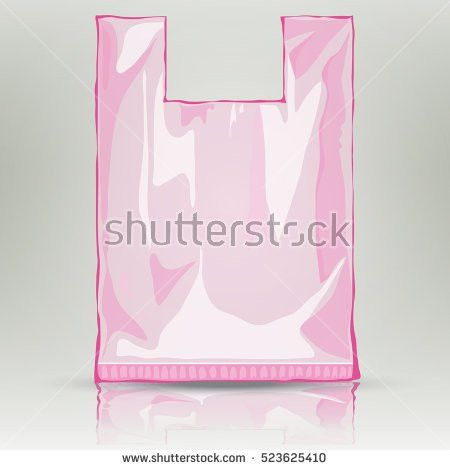 Disposable Tshirt Plastic Bag Template Ready Stock Vector ...