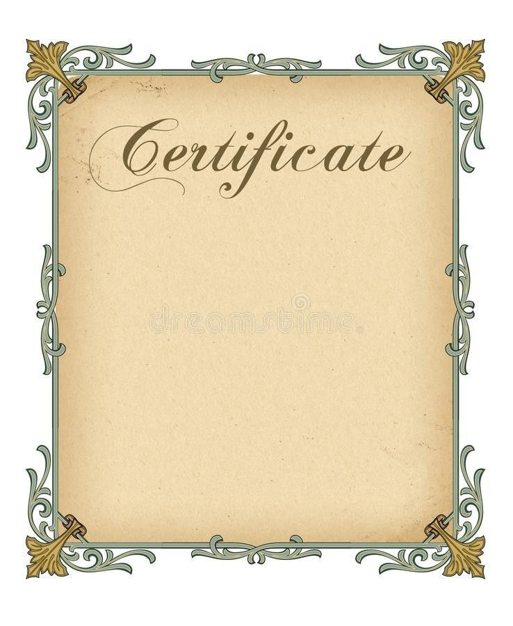 Blank Certificate Template Royalty Free Stock Images - Image: 34593289