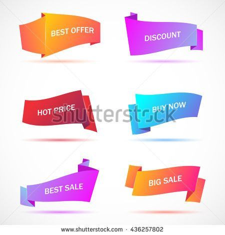 Vector Stickers Price Tag Banner Label Stock Vector 413791789 ...