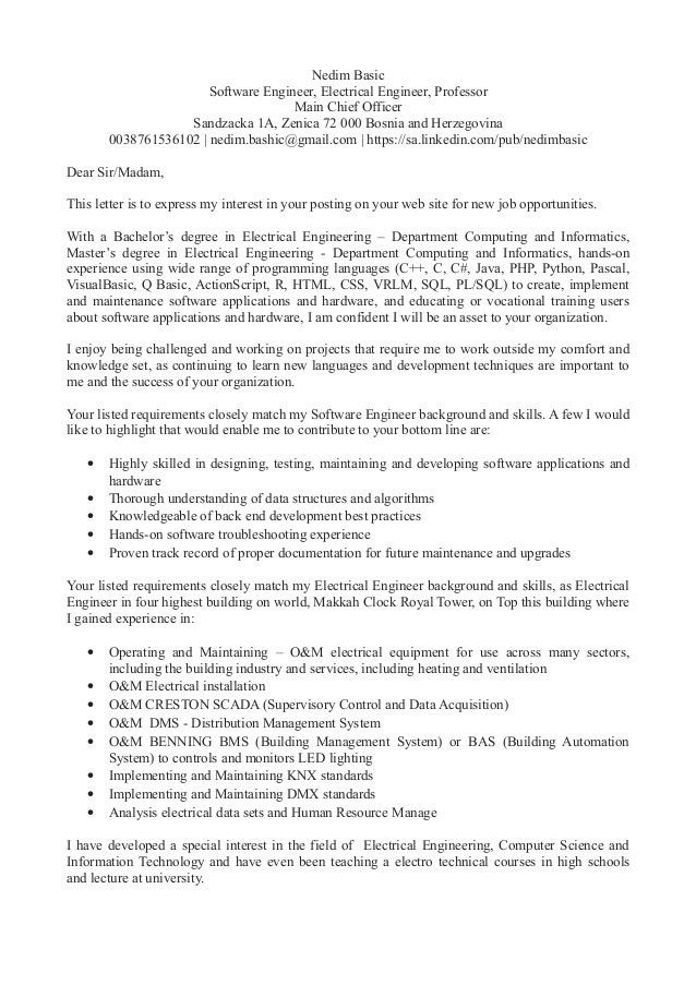 Cover Letter Examples For Job Resume Resume Cover Letter Examples .