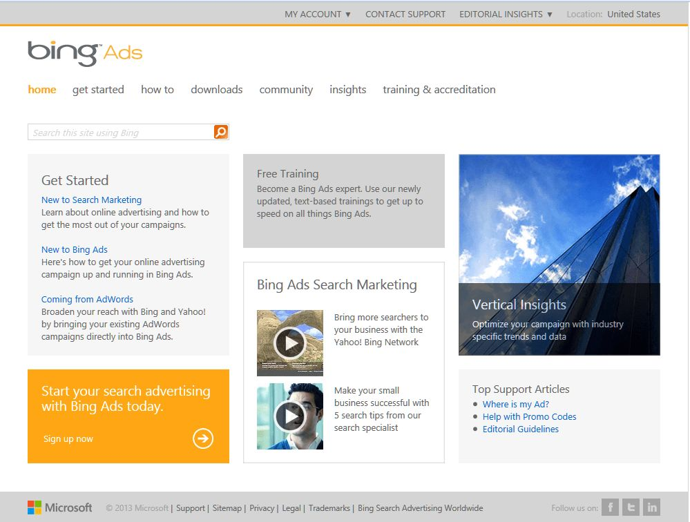 Bing Ads Redesigns Hub For Ad Manager Resources