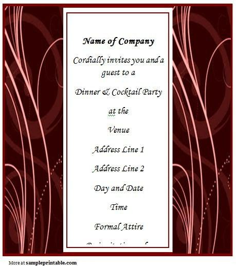 Business Invitation Templates Free. free business party invitation ...
