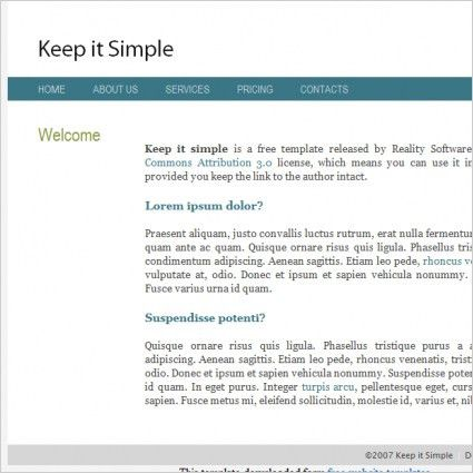 Simple green free website templates for free download about (17 ...