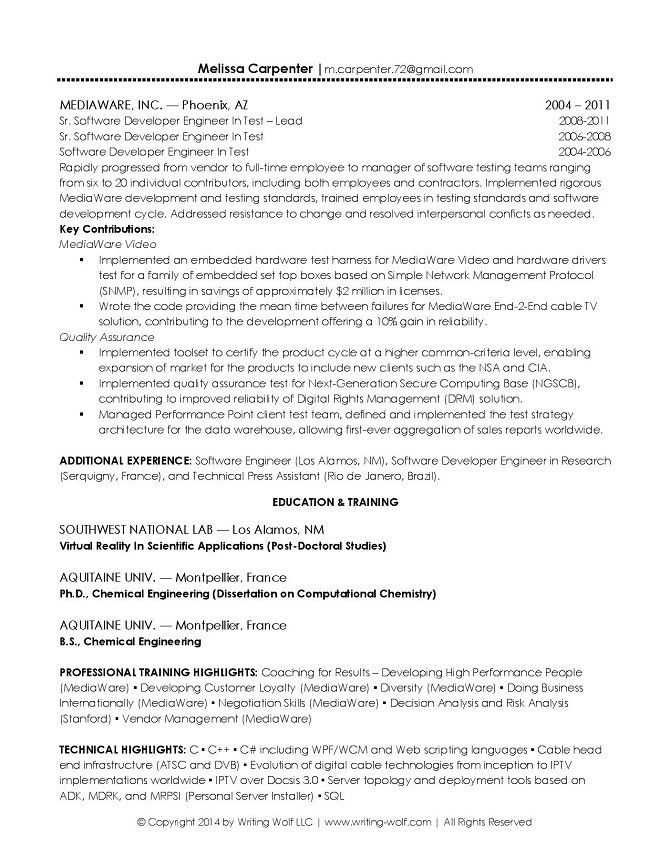 technical solution architect sample resume solution architect