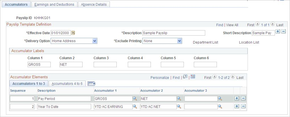 Creating Payslip Templates