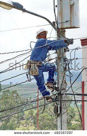 Electric Lineman Utility Working Fotografie, snímky pro členy ...