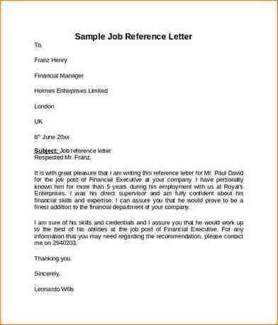 Sample Reference Sheet. 11+ Reference Letter For Job | Academic ...