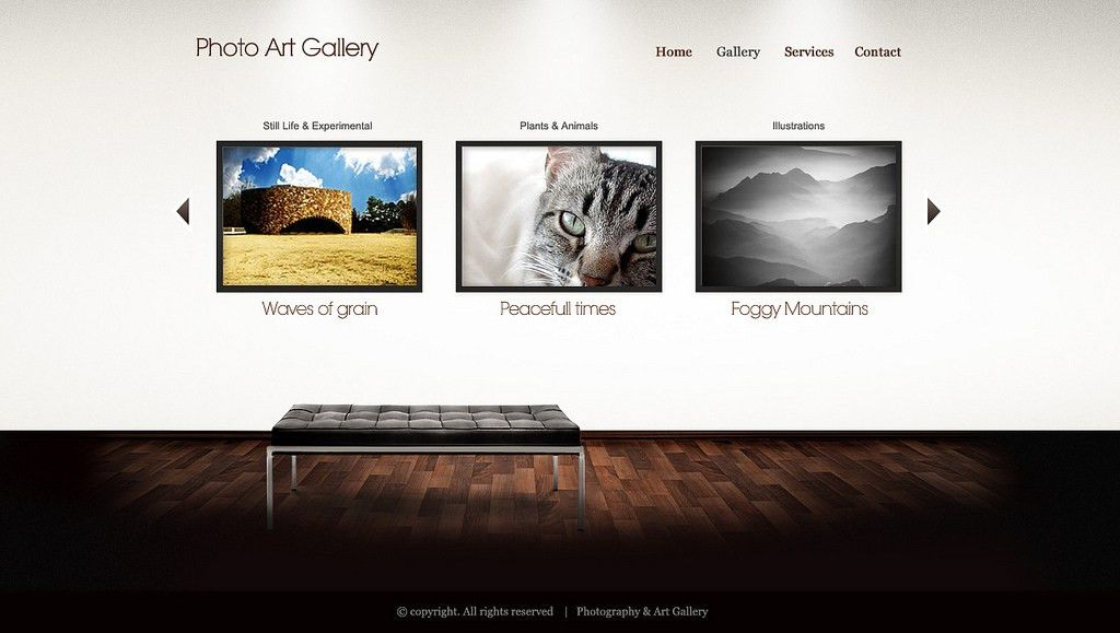 Art Gallery HTML/WP template - Gallery | Template created fo… | Flickr