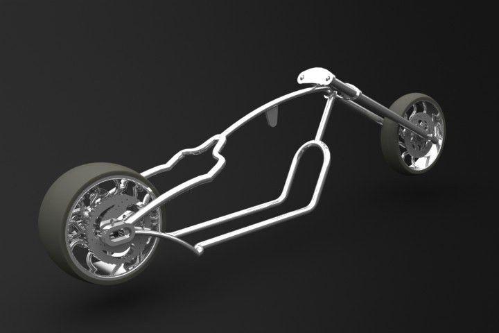 Design and Development of a Chopper Bike Frame – Minoas Mathioudakis
