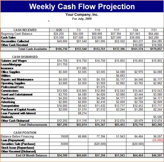 8+ cash flow forecast template | Procedure Template Sample