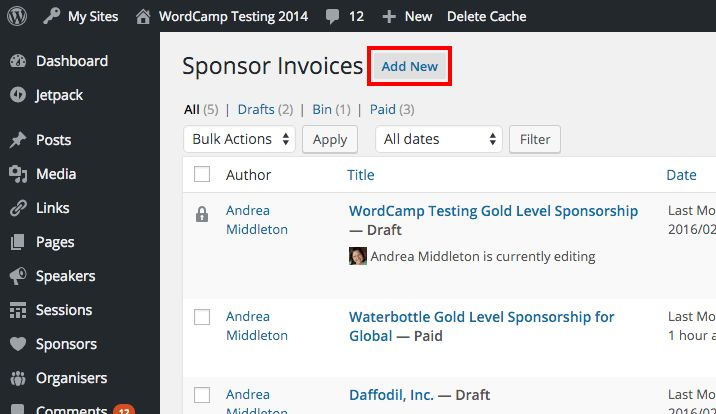 Creating Sponsor Invoices – Make WordPress Communities