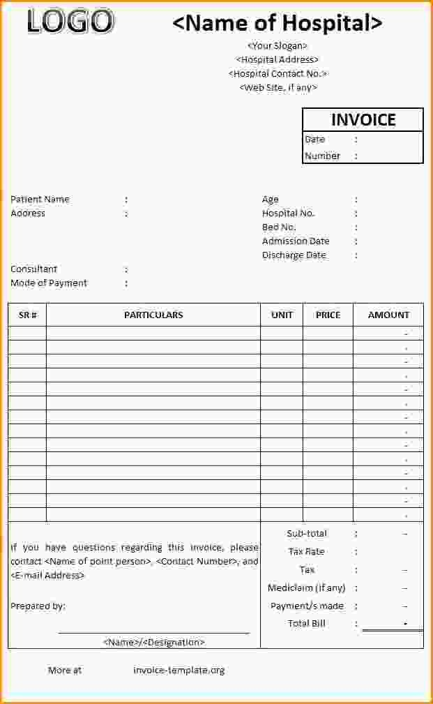 9+ medical invoice template | Loan Application Form