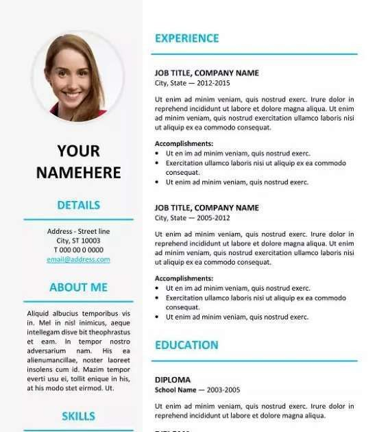 12 Professional Resume Templates in Word Format - XDesigns