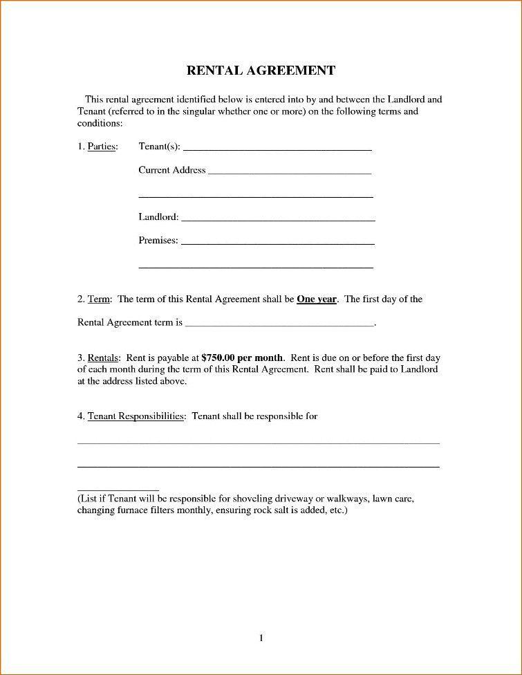 Room Rental Agreement Form Template | TemplateZet