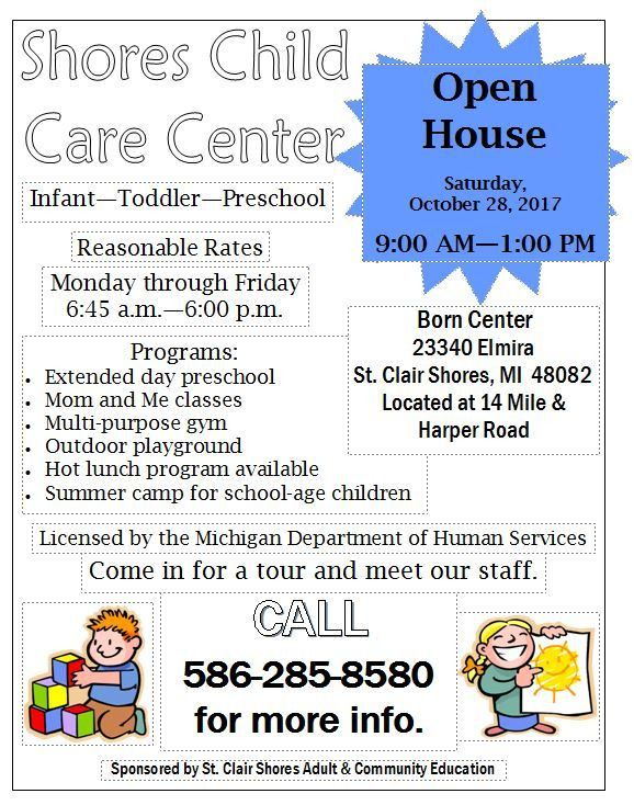 Shores Child Care Center - Infant-Toddler-Preschool Program...