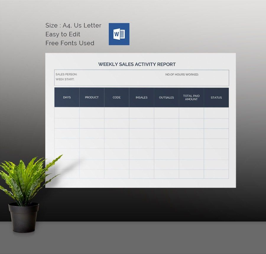 Weekly Activity Report Template - 30+ Free Word, Excel, PPT, PDF ...