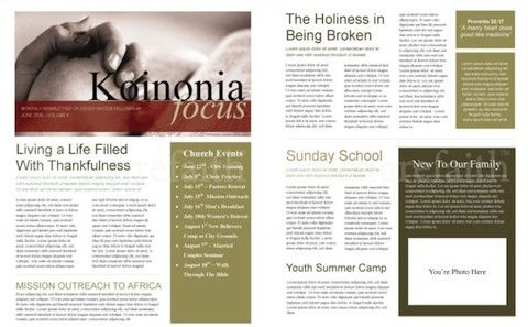 Best Photos of Printable Church Newsletter Templates - Free ...