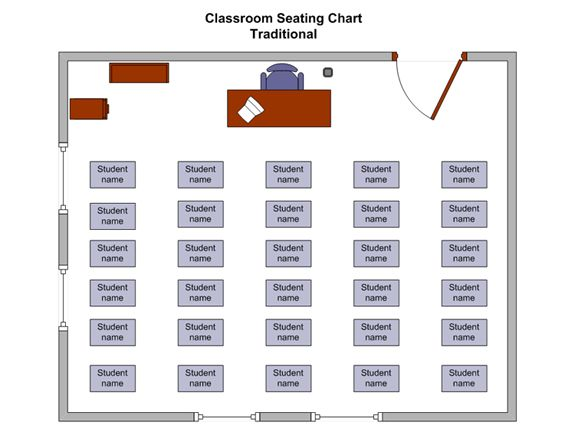 Free School Classroom Seating Chart Business Charts Templates