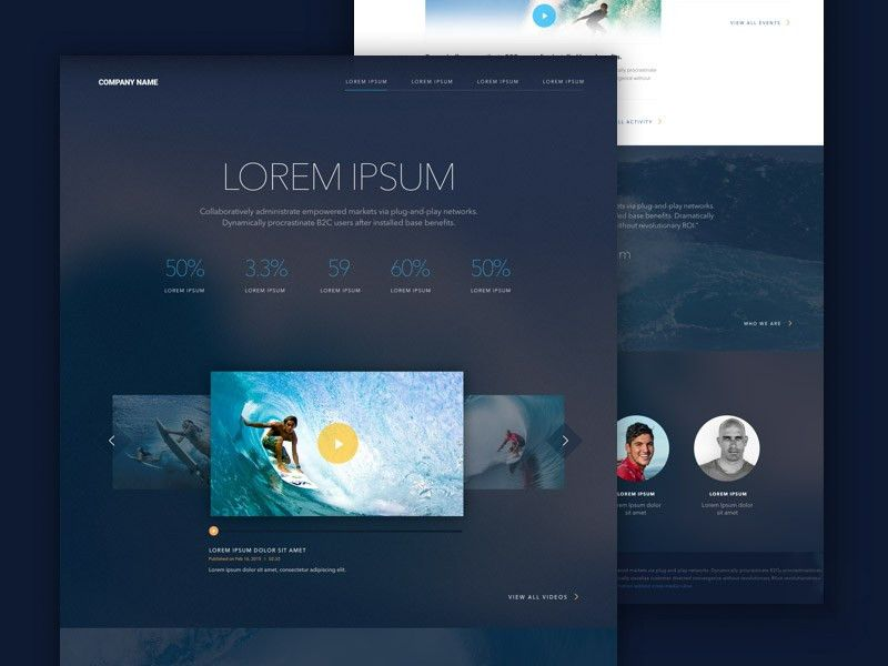 Landing Page Template Sketch freebie - Download free resource for ...