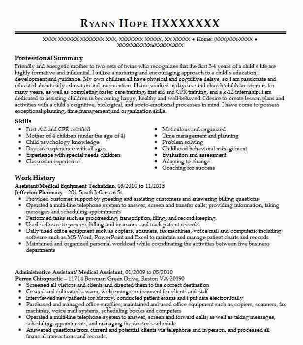 Best Medical Equipment Technician Resume Example | LiveCareer