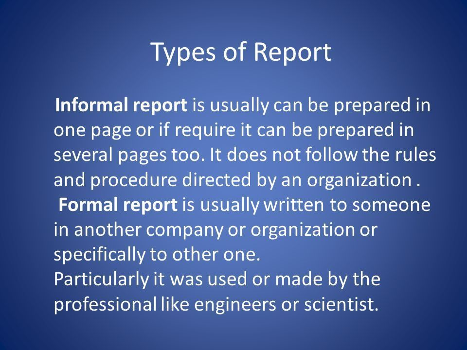 Reports What is Business report A report is a presentation of some ...